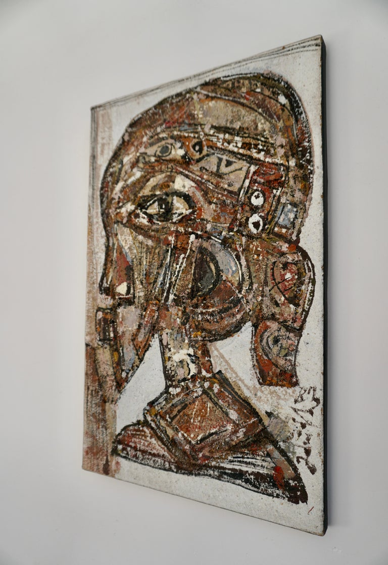 Tribal African Painting by Adingra For Sale
