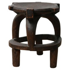 African Hand Carved Side Table or Plant Stand