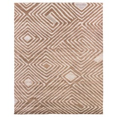 African Retro Rug. Size: 8 ft x 10 ft