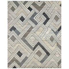 Nazmiyal Collection African Retro Rug. Size: 9 ft x 12 ft