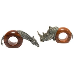 African Safari Figural Animal Napkin Rings