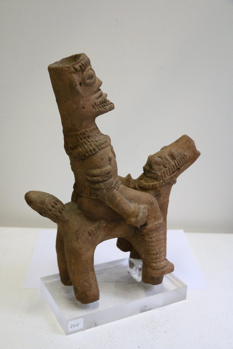 African Terracotta Equestrian Sculpture, Ghana, 14-15th AD Century For Sale 2