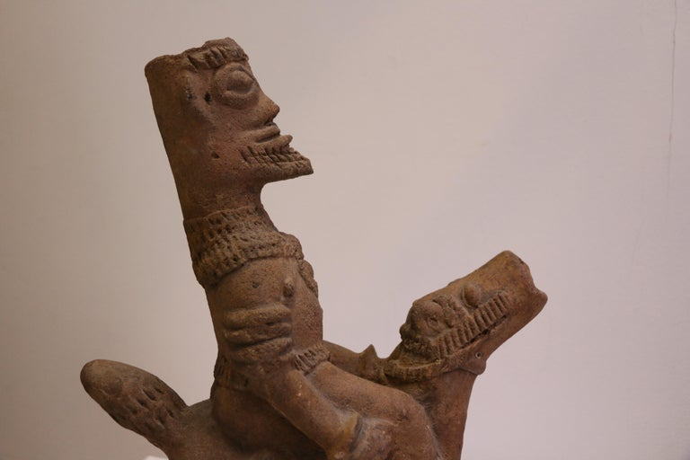 African Terracotta Equestrian Sculpture, Ghana, 14-15th AD Century For Sale 3