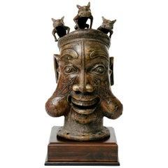 African Tikar Style Bronze Head