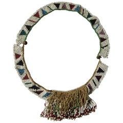 African Tribal Antique Zulu Bead Work Apron Belt, South Africa