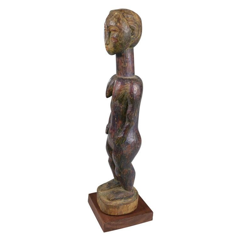 African Tribal Art Fine Old Baule Baule Blo Bian Female Figure For Sale
