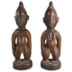 African Tribal Art Fine  Pair of Yoruba Ibeji Figures Gbongan