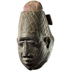 African Tribal Art Fine Yoruba Gelede Mask Headdress interior design decoration