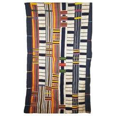 African Tribal Art Small Royal Ewe Kente Cloth Interior Design