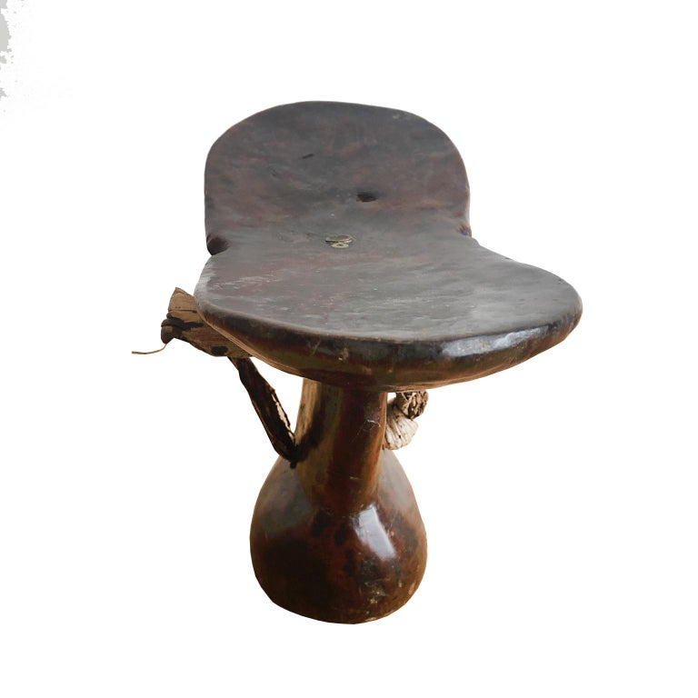 Hand-Carved African Tribal Headrest from Konso or Xonsita Tribe of Shankila, Ethiopia For Sale