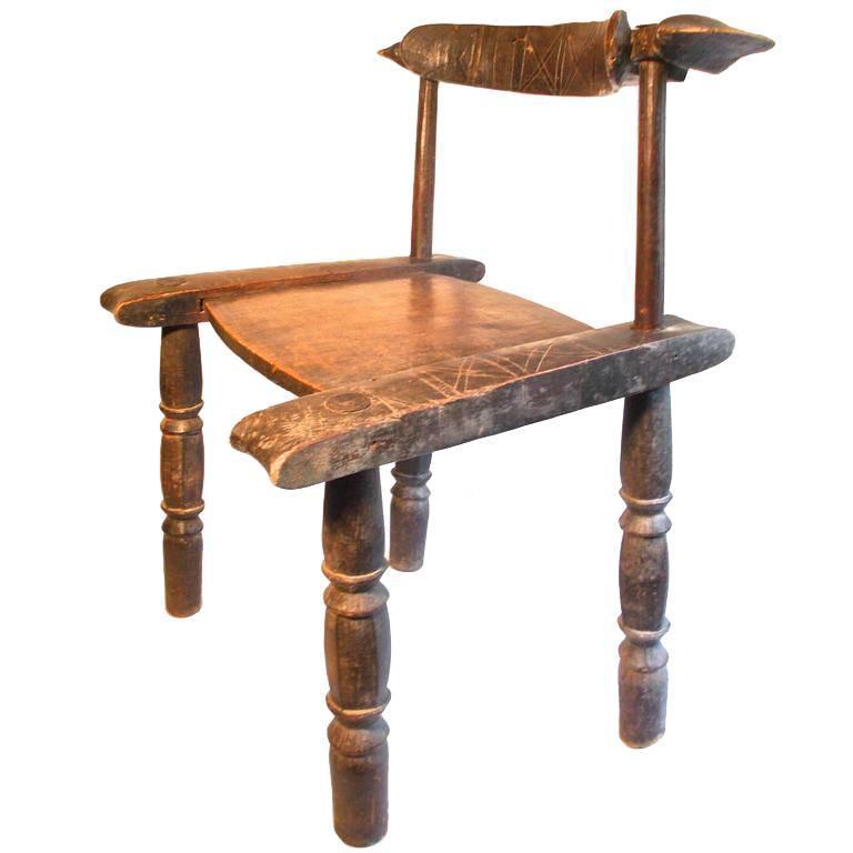 African Tribal Senufo Chair