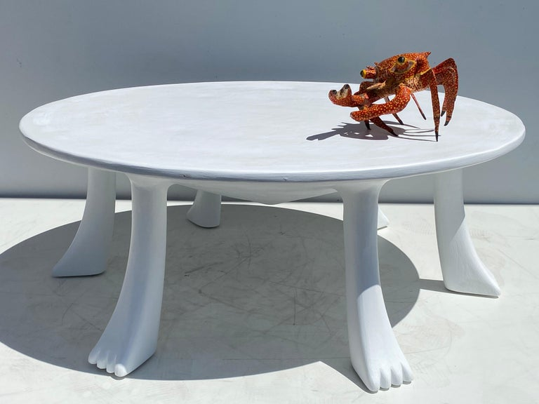 African Tribal Table in Plaster For Sale 6