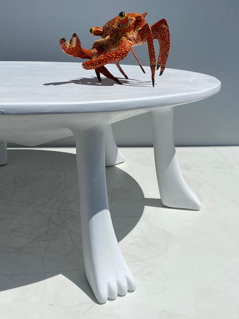African Tribal Table in Plaster For Sale 7