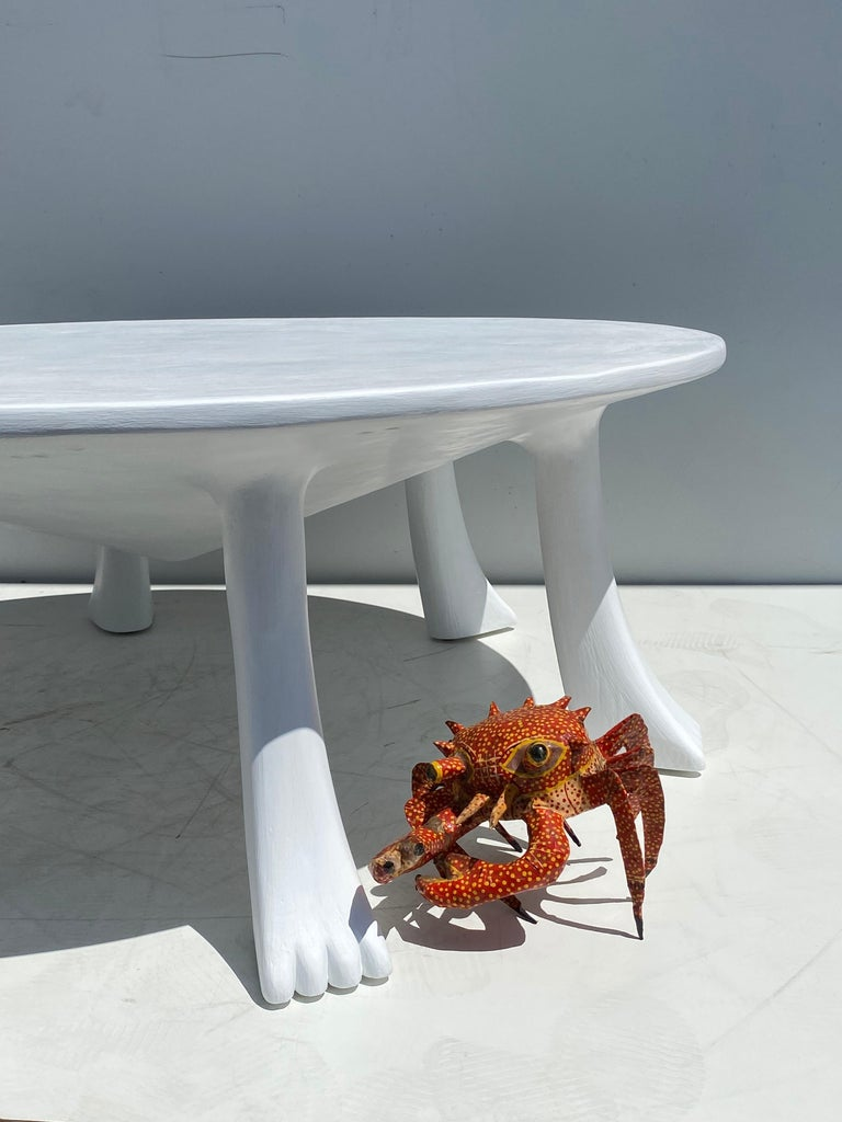 African Tribal Table in Plaster For Sale 8
