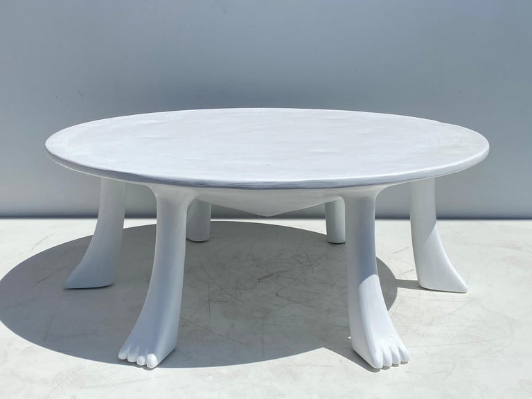 African Tribal Table in Plaster In Good Condition For Sale In North Hollywood, CA