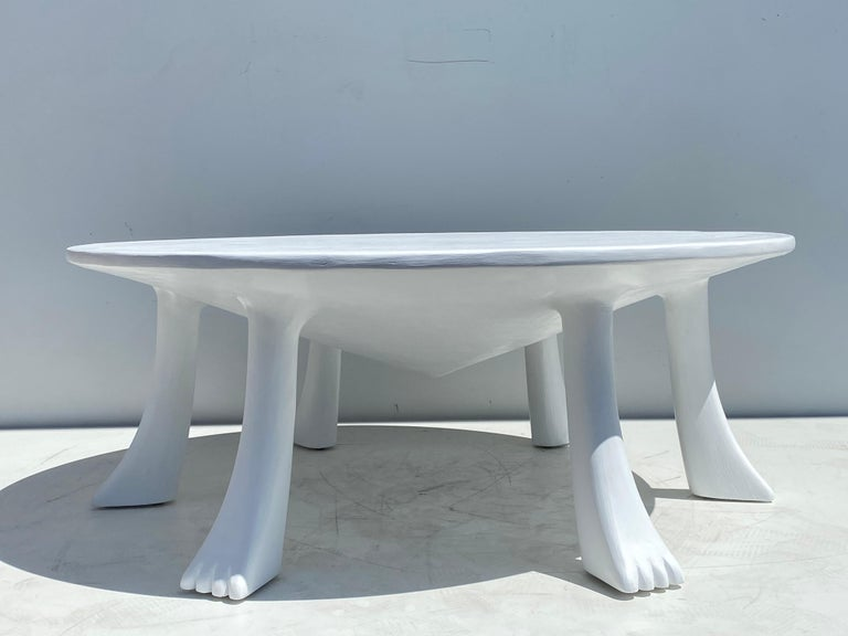 Late 20th Century African Tribal Table in Plaster For Sale