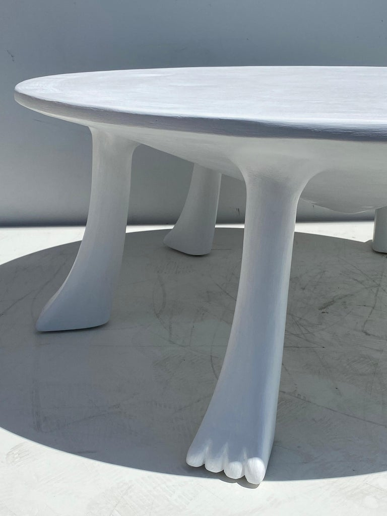 African Tribal Table in Plaster For Sale 2