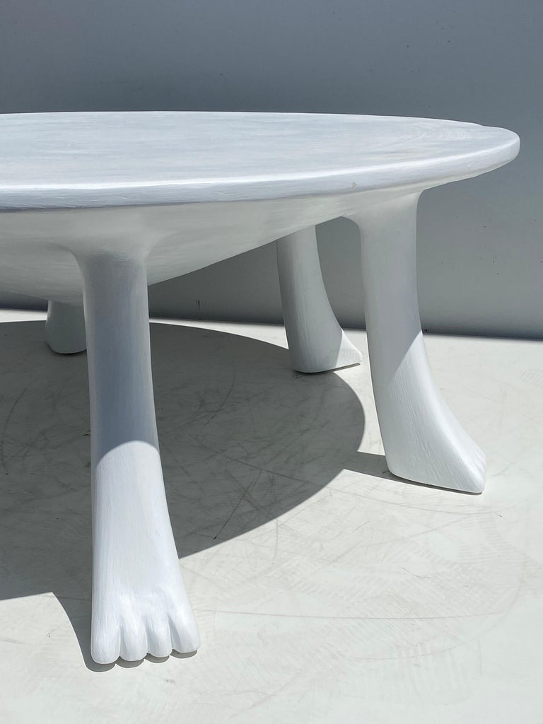 African Tribal Table in Plaster For Sale 3