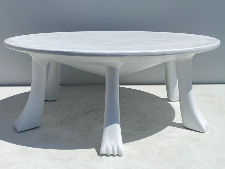 African Tribal Table in Plaster For Sale 4