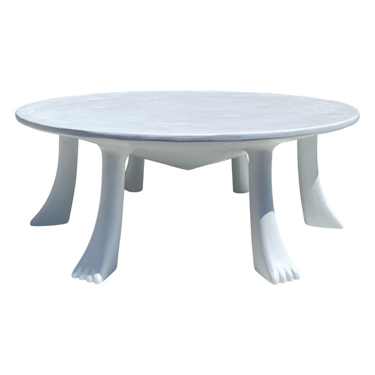 African Tribal Table in Plaster For Sale