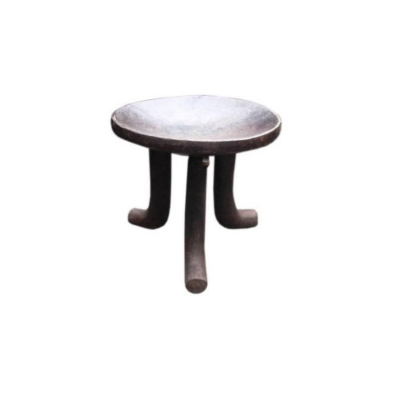 African Tripod Stool For Sale