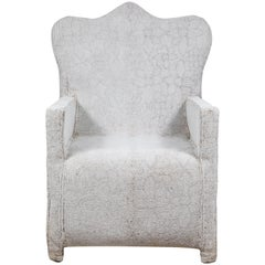 African White Beaded Chair, Nigeria, Nobility Chairs
