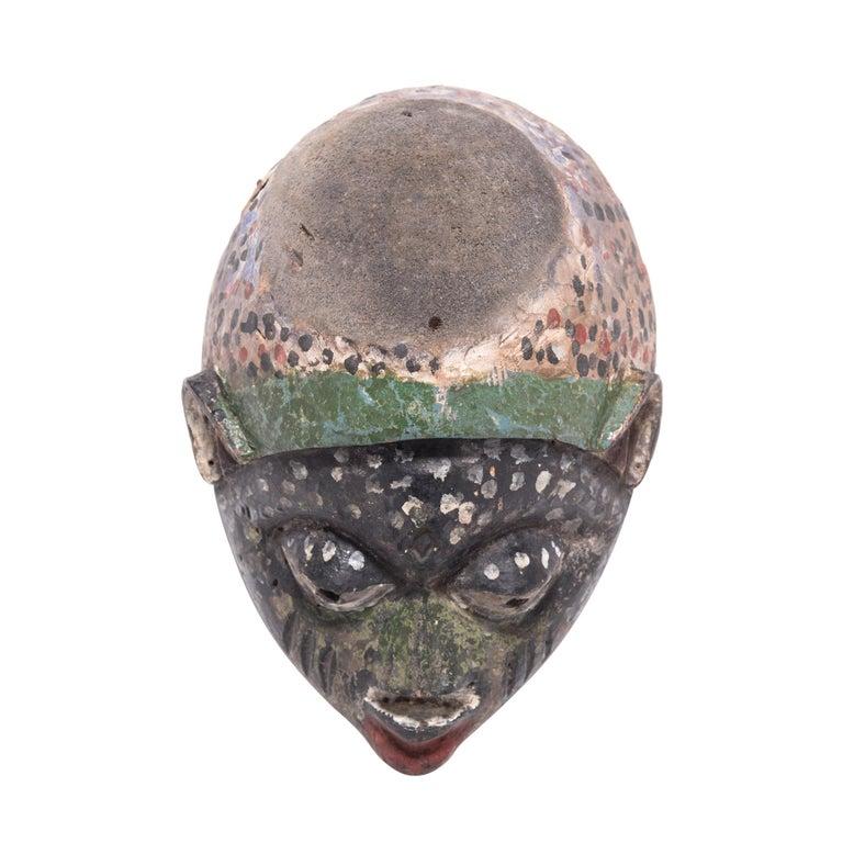 African Yoruba Painted Gelede Headdress For Sale