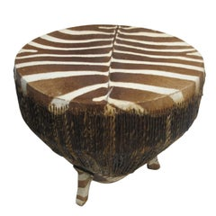 African Zebra Hide Drum