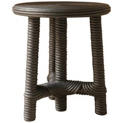 """""""Afrido"""" Stool, Made of Black Cotton Rope, by Christian Astuguevieille"""
