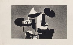 Black Composition - Original Etching by Afro Balsaldella - 1960s