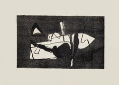 Black Composition - Original Etching by Afro Balsaldella - 1970s
