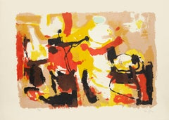 Composition - Original Lithograph by Afro Basaldella - 1955