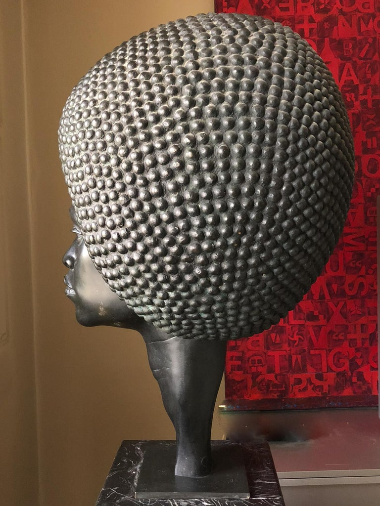 Late 20th Century Afro Bronze by Hans Jörg Limbach For Sale