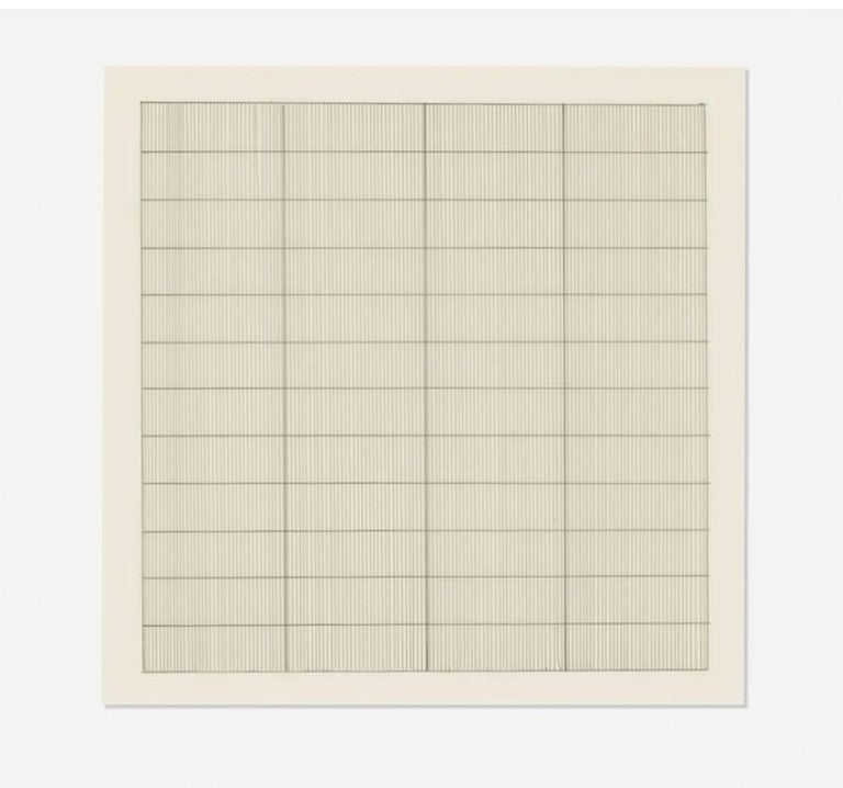 Untitled  - Print by (after) Agnes Martin