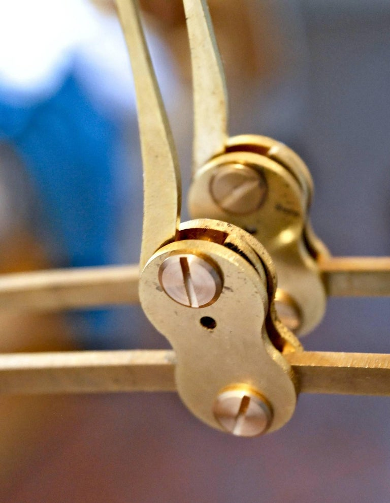 Illuminated Sculpture Murano Glass Brass Mobile Chandelier, Cobalt For Sale 4
