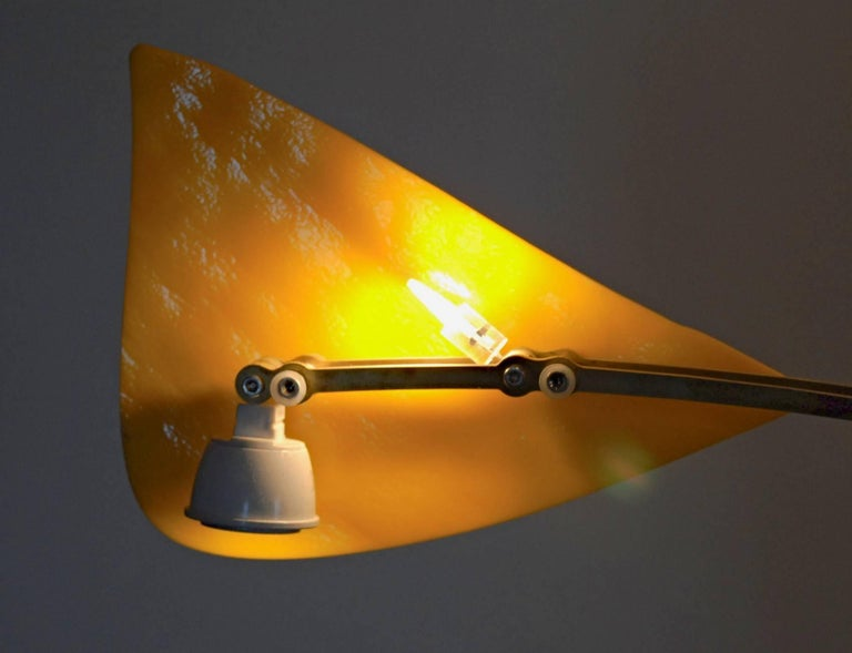 Illuminated Sculpture Murano Glass Brass Mobile Chandelier, Cobalt For Sale 11