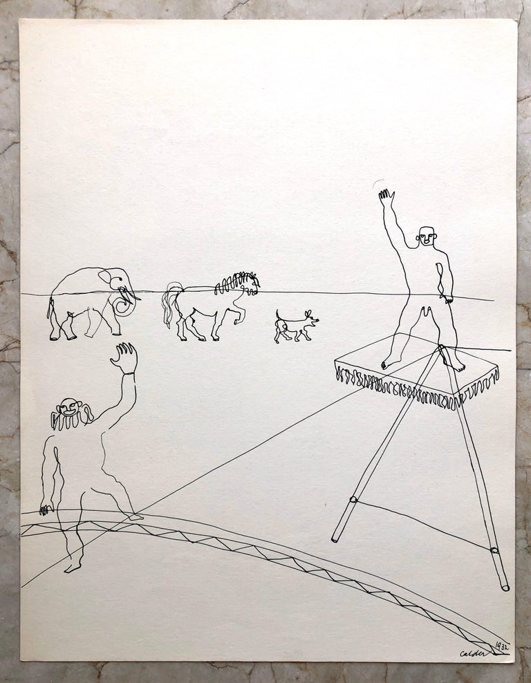 Alexander Calder Circus Reproduction Lithograph After a Drawing For Sale 4