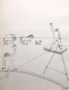 Alexander Calder Circus Drawing Lithograph American Modernist