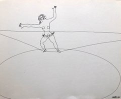 Alexander Calder Circus Reproduction Lithograph of a Drawing
