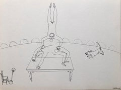 Alexander Calder Circus Reproduction Lithograph After a Drawing