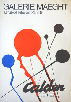 Arrows (Red, Blue and Black Balloons)  - Lithograph poster, Maeght 1968