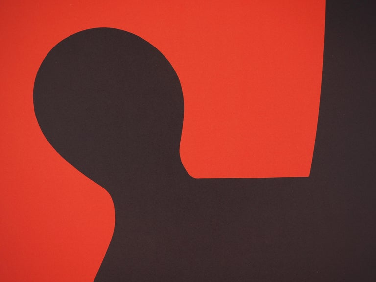 Black Shadow (Stabiles sculptures) - Lithograph poster - Maeght 1969 - Print by (after) Alexander Calder