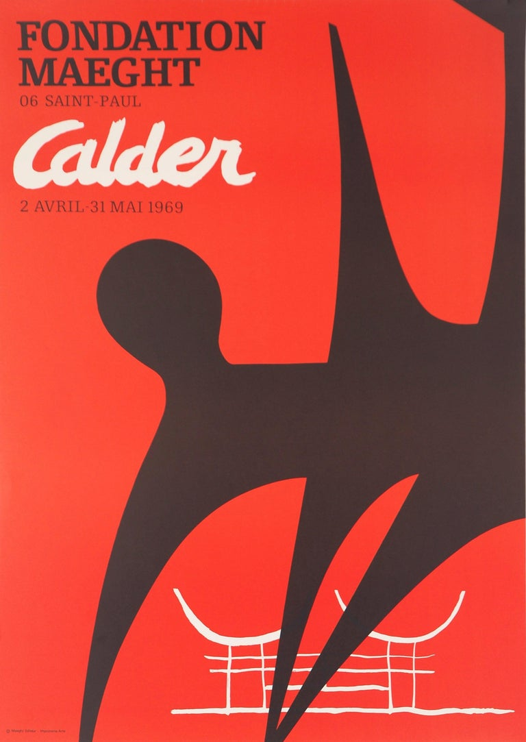 (after) Alexander Calder Abstract Print - Black Shadow (Stabiles sculptures) - Lithograph poster - Maeght 1969