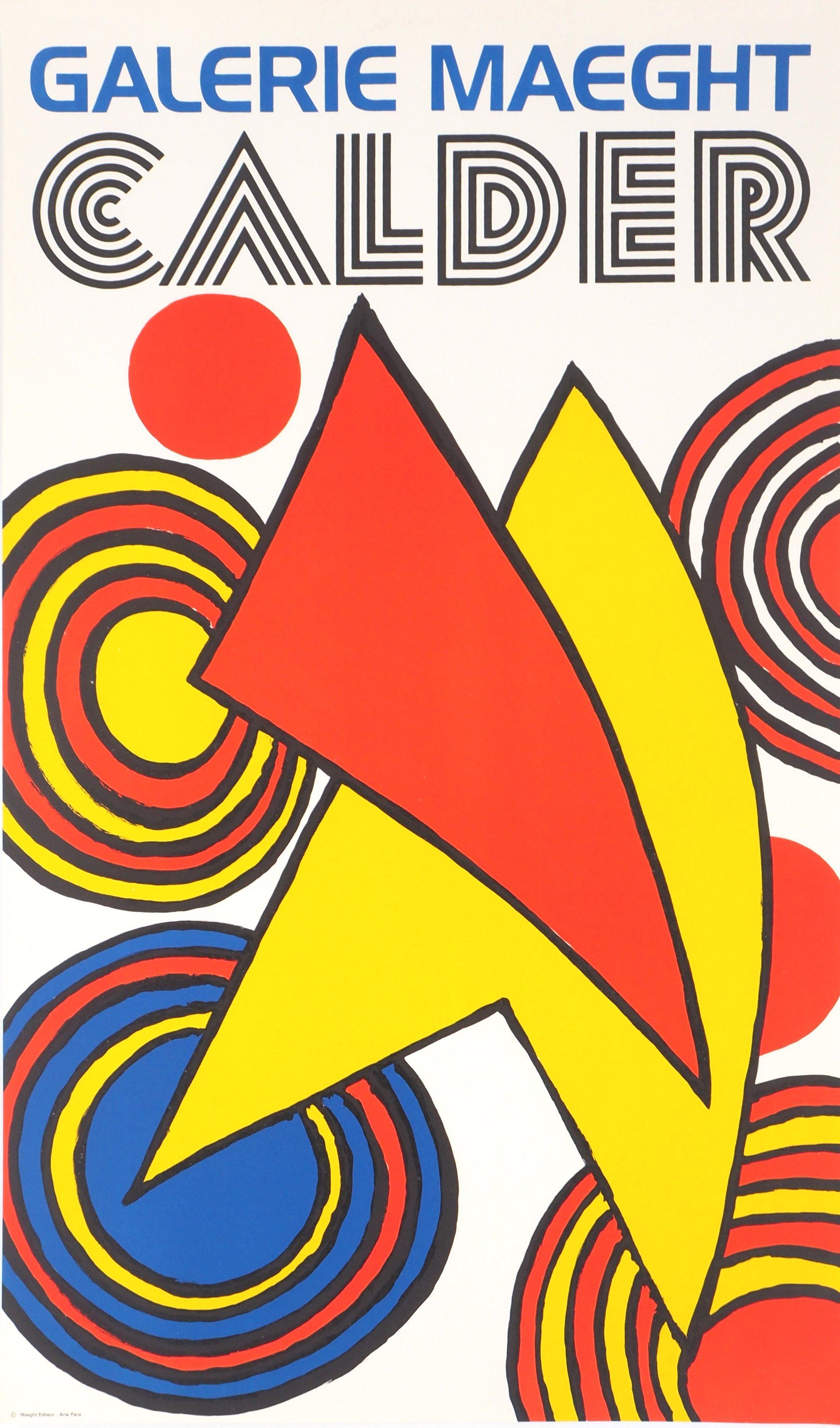 Circles and Sails - Lithograph poster - Maeght, 1973