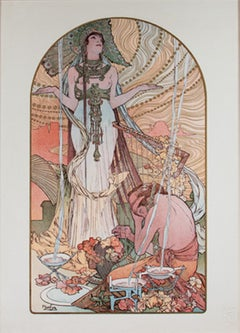 Incantation - L'Estampe Moderne, Giclee Print after 1897 Lithograph by Mucha