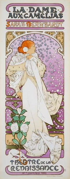 La Dame aux Camelias by Alphonse Mucha - art nouveau lithograph