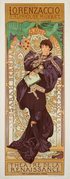 Lorenzaccio by Alphonse Mucha - art nouveau lithograph