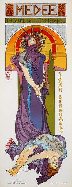 Medee by Alphonse Mucha - art nouveau lithograph