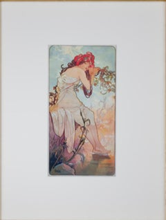 """Summer From: The Four Seasons,"" Giclee Print after 1896 Print by Alphonse Mucha"
