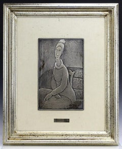 """Limited Edition Sterling Sculpture after Amedeo Modigliani """"Jean Hebuterne"""""""